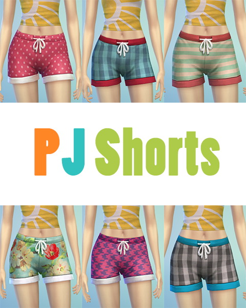 Sims 4 PJ Shorts at JSBoutique