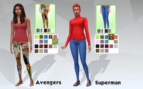 Female Superhero Leggings Set image 5211 Sims 4 Updates