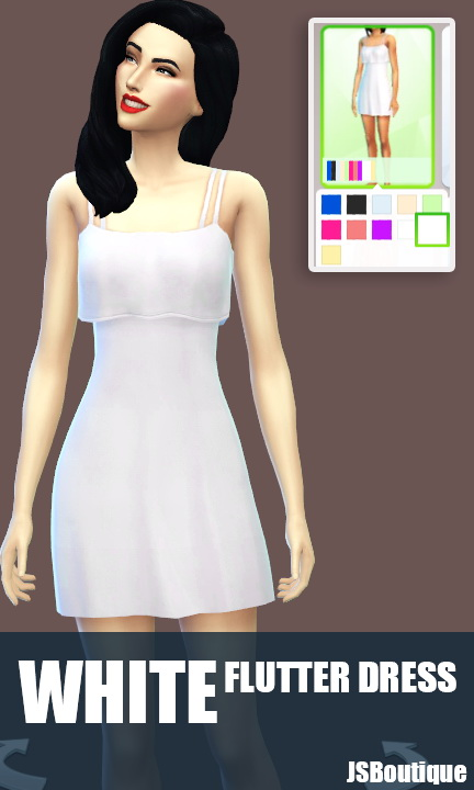 White versions of 7 clothing items at JSBoutique image 527 Sims 4 Updates