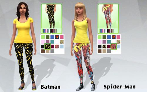 Female Superhero Leggings Set image 5310 Sims 4 Updates