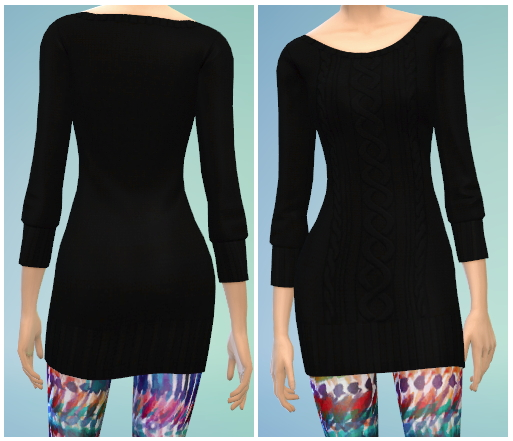 4 Sweater Dress Recolors At The Simsperience 187 Sims 4 Updates