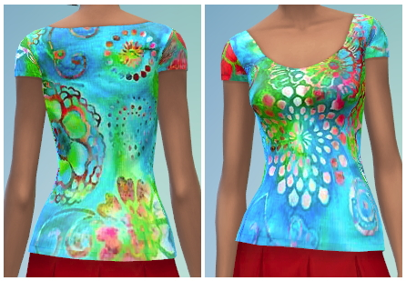 Sims 4 10 Scoop Neck Tee Recolors at The Simsperience
