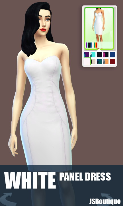 White versions of 7 clothing items at JSBoutique image 547 Sims 4 Updates