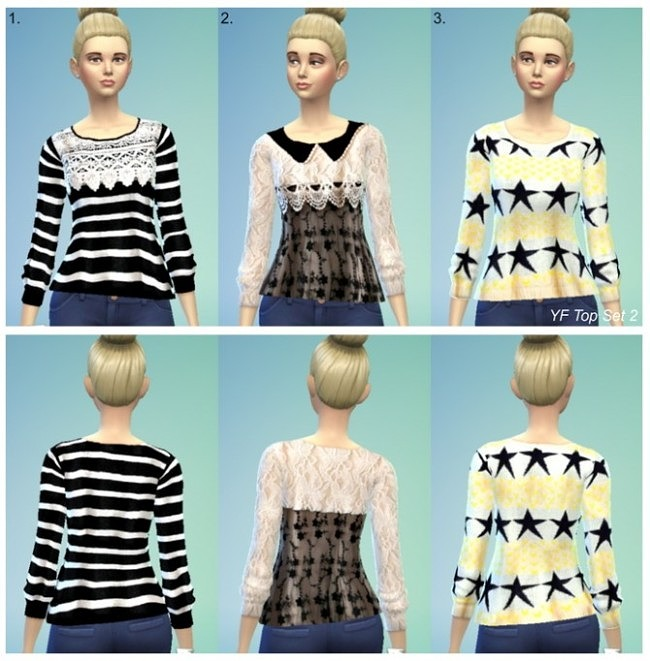 Sims 4 3 new sweaters at Jietia Creations