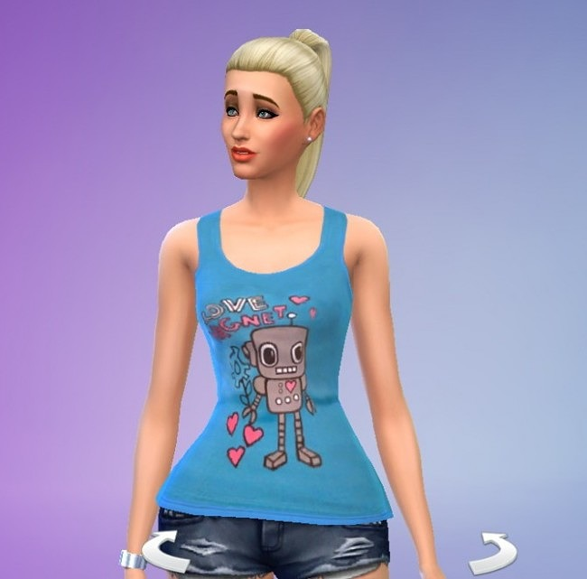 Love Magnet and Lilac Tops, Dark Blue Skinny Jeans and Purple Dress at Simply Simming image 561 650x641 Sims 4 Updates