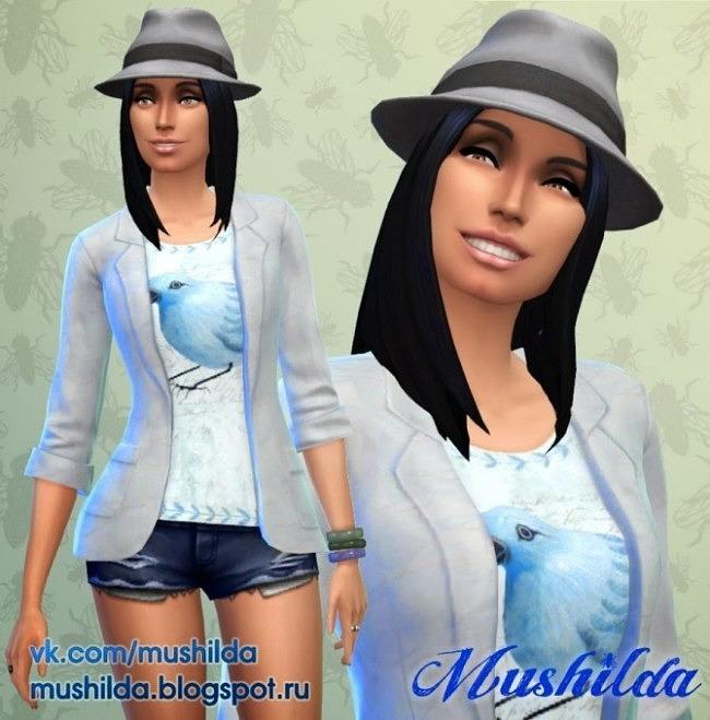Blazer Blue Bird at Mushilda image 563 650x659 Sims 4 Updates
