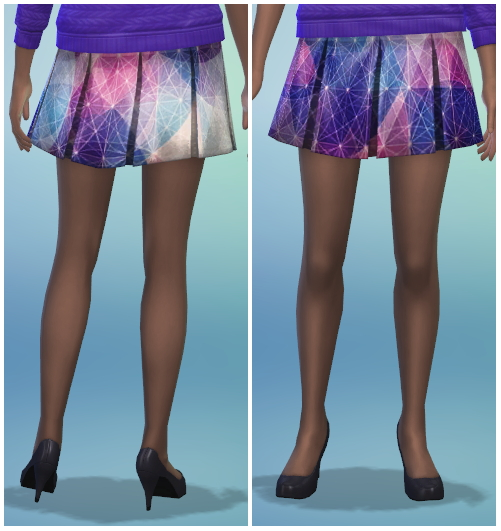 8 Printed Pleated Skirt Recolors at The Simsperience image 566 Sims 4 Updates
