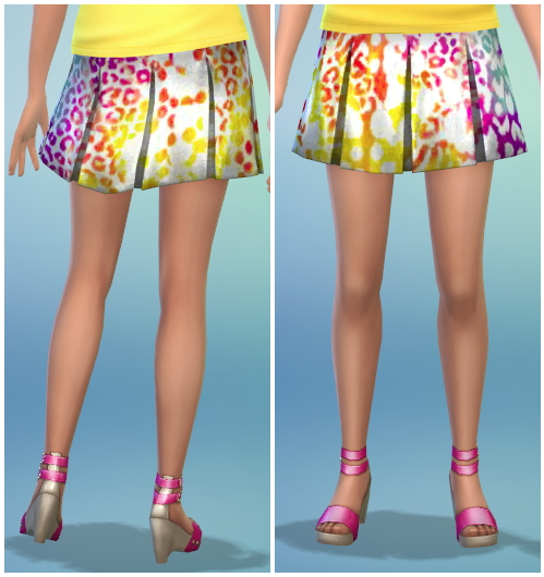 8 Printed Pleated Skirt Recolors at The Simsperience image 575 Sims 4 Updates