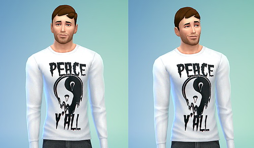Sims 4 Topman Peace Y'all Sweater (Non Default) at Sims 4 Sweetshop