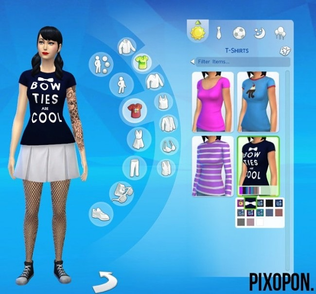 Sims 4 Dr. Who: Bow Ties Are Cool T Shirt at Pixopon