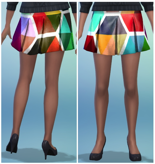 8 Printed Pleated Skirt Recolors at The Simsperience image 587 Sims 4 Updates