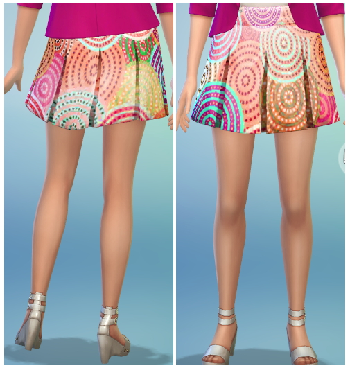 Sims 4 8 Printed Pleated Skirt Recolors at The Simsperience