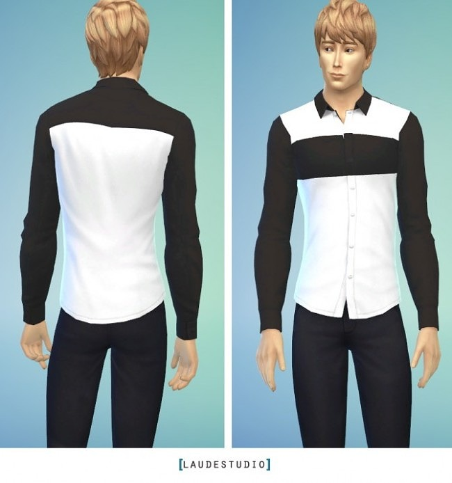 Sims 4 ChenChen Basic Shirt for males at Laude Studio