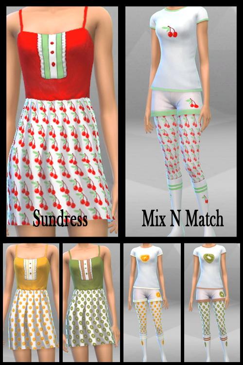 Fruit Dresses and Mix N Match at KitOnlyHuman image 622 Sims 4 Updates