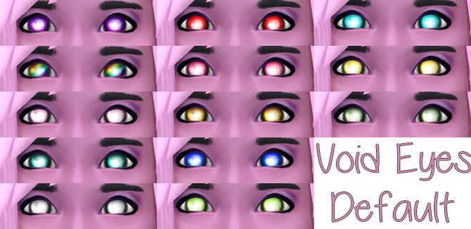 Sims 4 Void Eyes Default at Star's Sugary Pixels