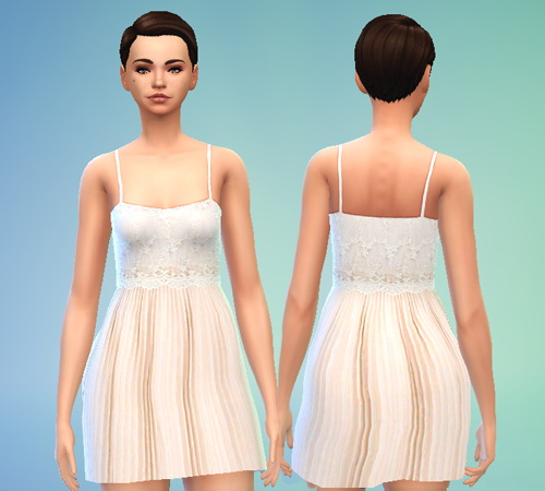 Embroidered Chiffon Dress at Puresims image 674 Sims 4 Updates