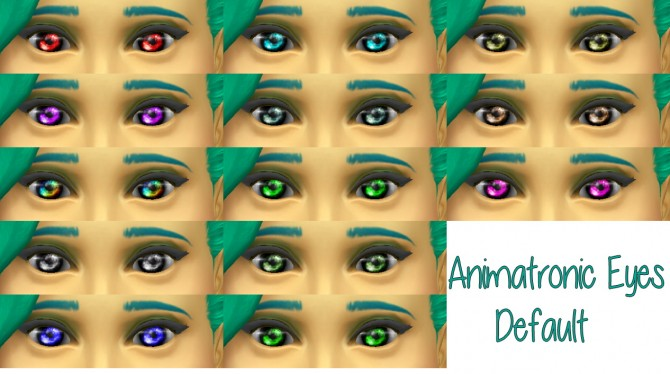 Sims 4 Animatronic eyes default at Star's Sugary Pixels