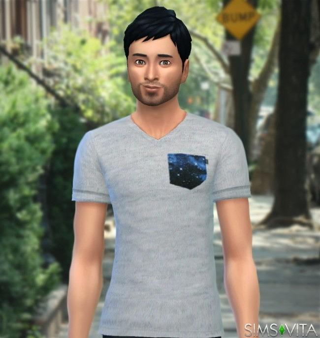 Sims 4 Pocket T shirt by Luciap25 at Sims Vita