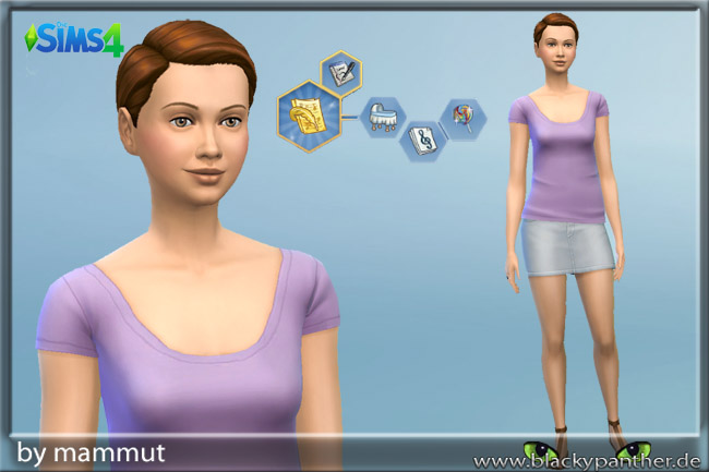 Sims 4 Karo Violet sim female by mammut at Blacky's Sims Zoo