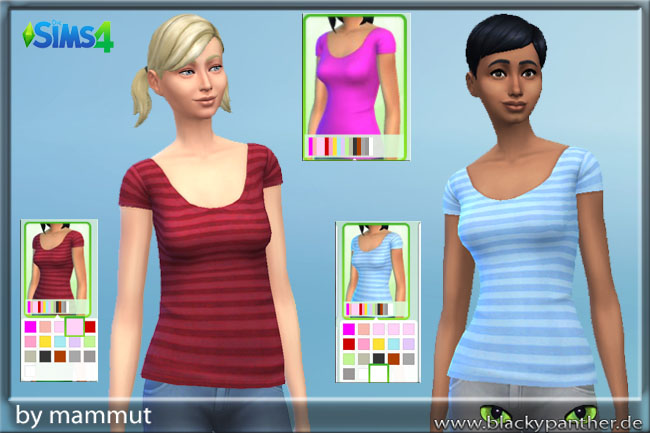 Sims 4 Solid Stripes Top by Mammut at Blacky's Sims Zoo