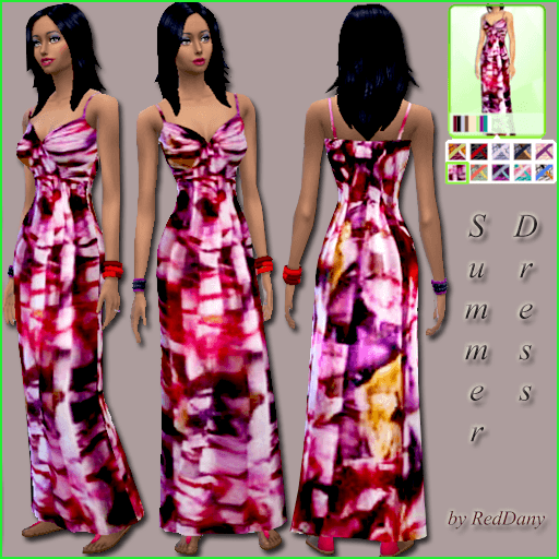Sims 4 Maxi Dress Summer at Dany's Blog