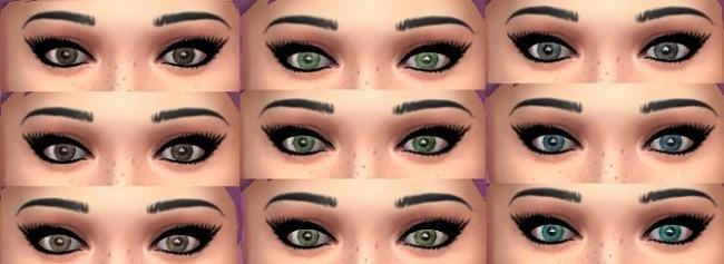 Sims 4 13 default realistic eyes at Simply Simming