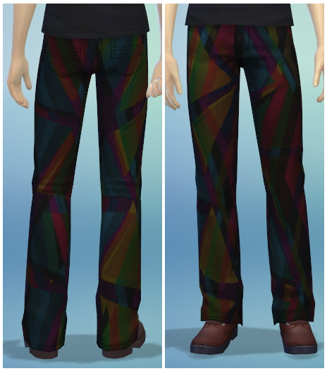 Sims 4 6 Male Bootcut Jean Recolors at The Simsperience