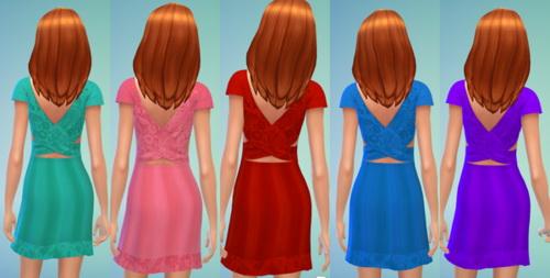 Sims 4 Flower Dress at Darkiie Sims4