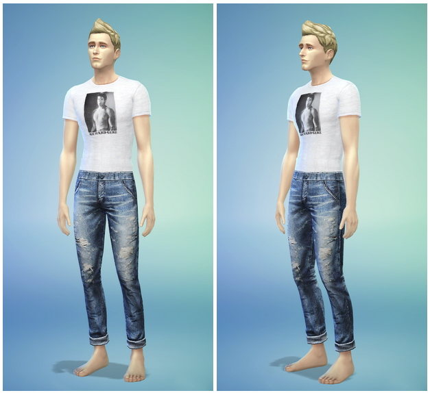 T shirt and jeans default replacement by Rusty Nail image 91 Sims 4 Updates