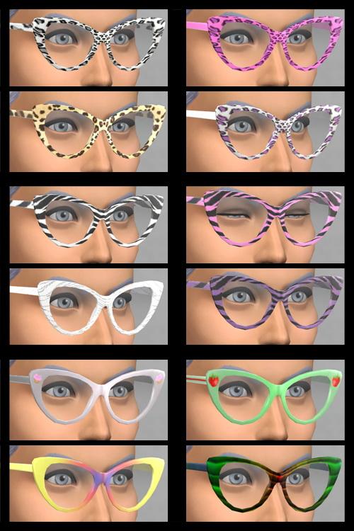 Sims 4 Female Wild Glasses (Non Default) at KitOnlyHuman