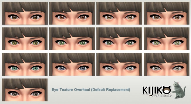 Sims 4 Eye Texture Overhaul at Kijiko