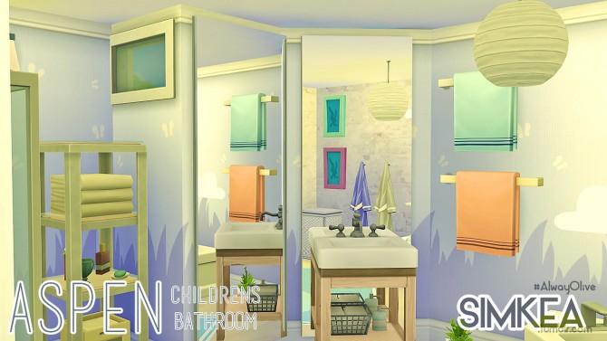 Sims 4 Aspen Children's Bathroom at Simkea