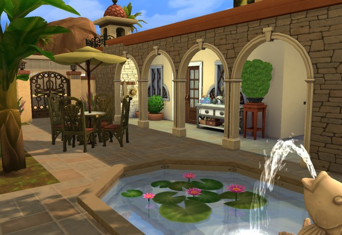 Sims 4 Crowe Villa at Architectural tricks from Dalila