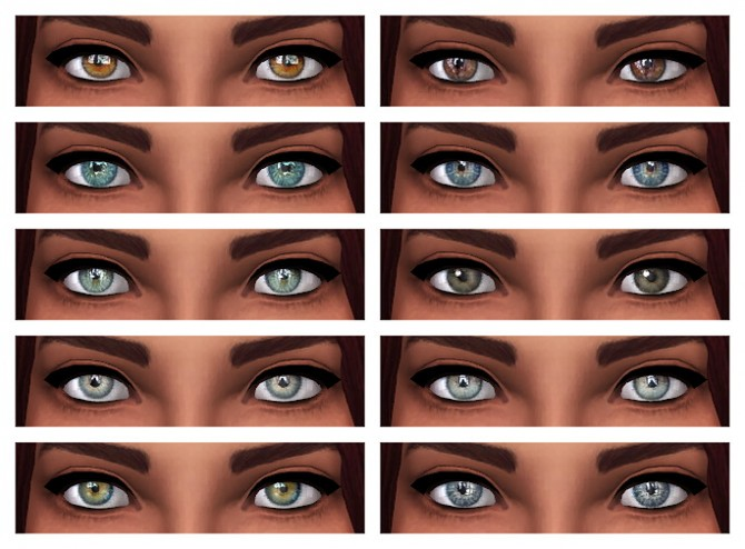 20 of Mouseyblues leftover eyes 2T4 at Chisami image 1054 Sims 4 Updates