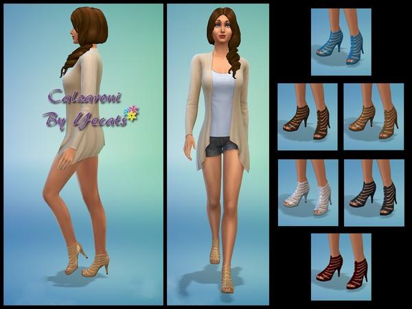 Sims 4 Calzaroni high heels by Yecats at TSR