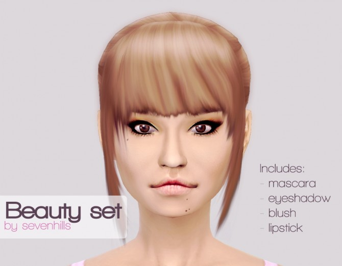 BEAUTY SET at Sevenhills Sims image 1087 Sims 4 Updates