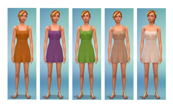 5 dress recolors at Simsnacks image 1108 Sims 4 Updates