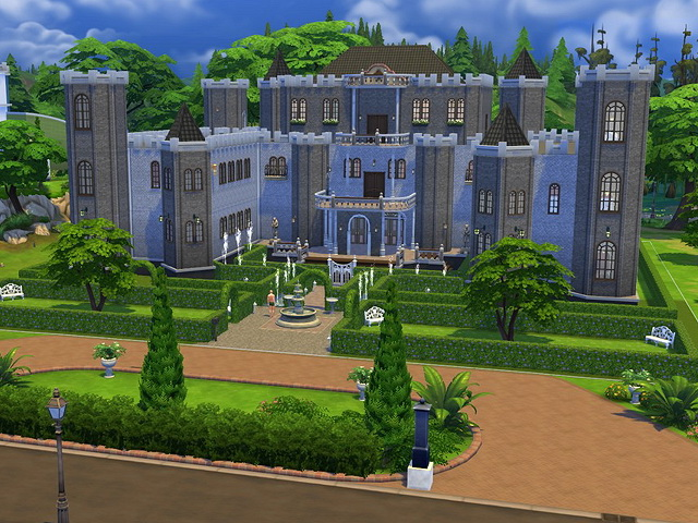 Old manor by sim4fun at sims fans sims 4 updates for Classic house sims 4