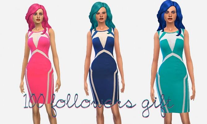 Sims 4 3 panel dresses at Ecoast