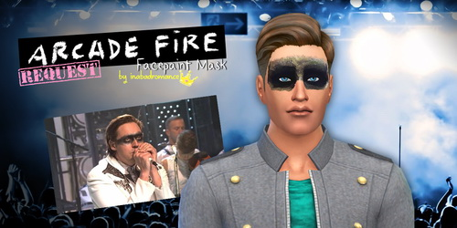 Sims 4 Arcade Fire mask at In a bad Romance