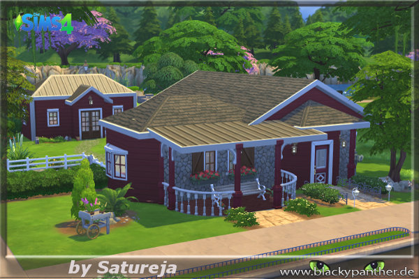 Old house by satureja at blacky s sims zoo sims 4 updates for Classic house sims 4