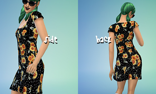 Sims 4 Sunflower & Plaid Dresses at Sim sala sim