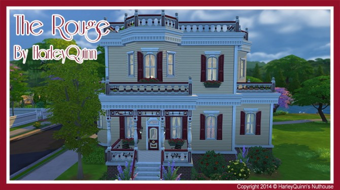 The Rouge house at Harley Quinn's Nuthouse image 1153 Sims 4 Updates