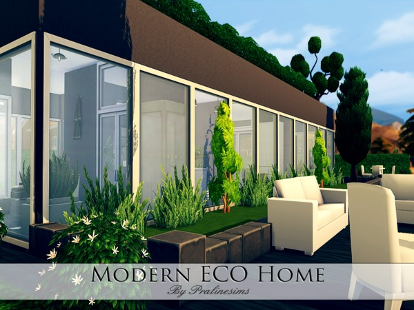 Modern Eco Home By Pralinesims At Tsr 187 Sims 4 Updates