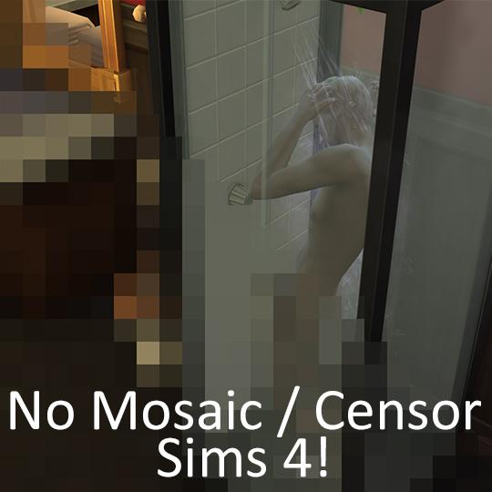Sims 4 No Mosaic / Censor Mod by moxiemason at Mod The Sims