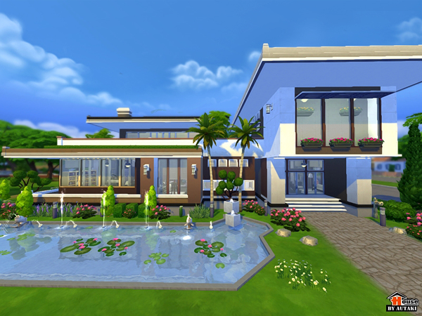 Sims 4 Maya Modern House by Autaki at TSR