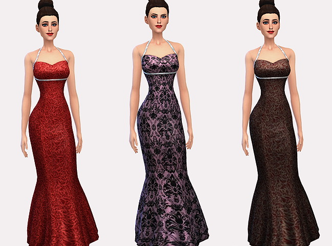 Sims 4 Double Diamond dresses at Ecoast