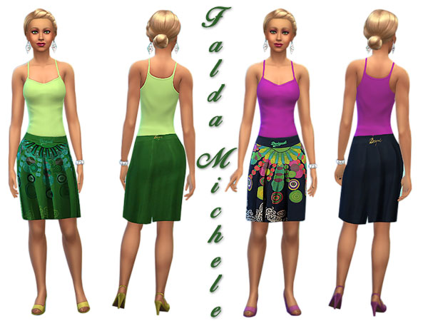 Sims 4 Falda Michele outfit by Pilar at SimControl