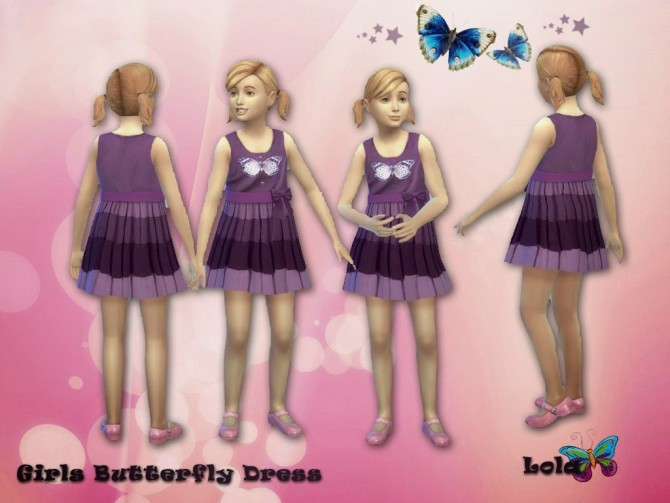 Sims 4 Butterfly Dress for Girls at Sims and Just Stuff