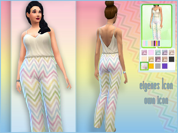ZigZag Jumpsuit by Waterwoman at Akisima image 132 Sims 4 Updates